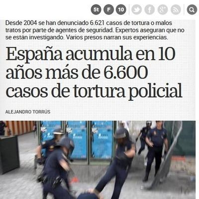 En manos de quién estamos? - ESPAÑA acumula en 10 años más de 6.600 casos de Tortura Policial | La R-Evolución de ARMAK | Scoop.it