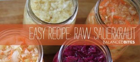 Easy Recipe: Raw Sauerkraut | RawFoodRecipes | Scoop.it