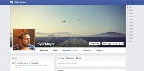 Facebook : design révisé pour les pages de profil | Marketing Communication news | Scoop.it