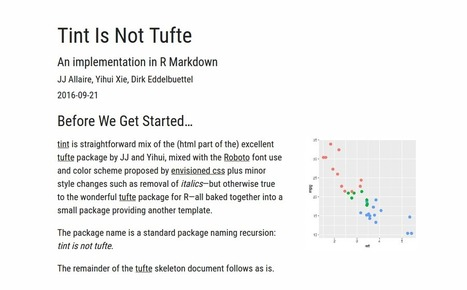 tint: tint is not tufte | R for Journalists | Scoop.it
