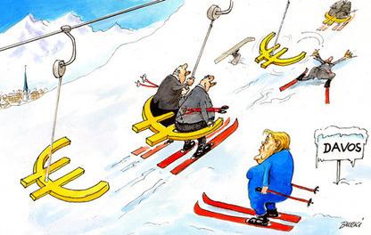 Davos ski-lift [cartoon] | 24 Heures | Eurozone | Scoop.it
