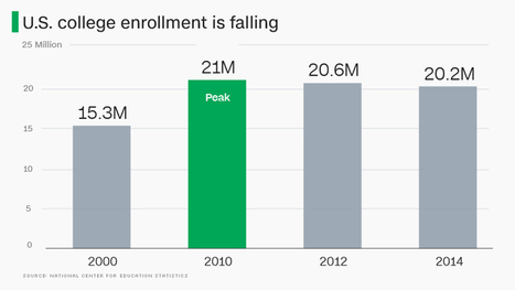 U.S. college enrollment is dropping. Bad sign? | digitalNow | Scoop.it