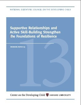 Working Paper #13: Supportive Relationships and Active Skill-Building Strengthen the Foundations of Resilience | Aprendiendo a Distancia | Scoop.it