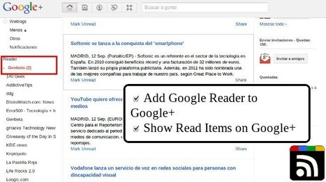 RSS Share, extensión para Chrome que mejora la forma de compartir tus RSS en Google +   Recull diari   Scoop.it