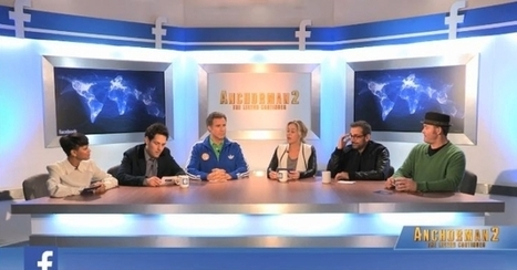 Stars Of 'Anchorman 2: The Legend Continues' Take Over Facebook's London Office | Digital-News on Scoop.it today | Scoop.it