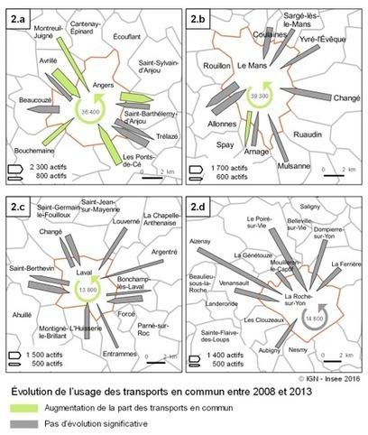 Insee > Se rendre au travail en transports en commun: une pratique qui se développe dans les grandes villes de la région | Observer les Pays de la Loire | Scoop.it