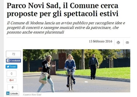 Il Comune non ha idee e ne cerca qualcuna su cui appiccicare il patrocinio | Modena Come | Smart city e smart community | Scoop.it