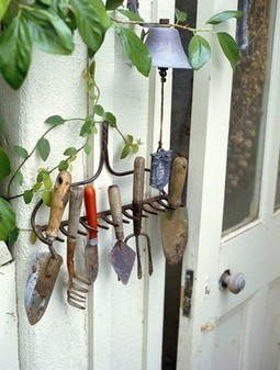 Garden Tool Organization | Up Cycled Garden | Scoop.it