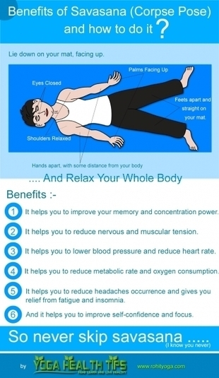 Benefits of Savasana (corpse pose) and how to do it? | Yoga Tips for Healthy Living! | Scoop.it