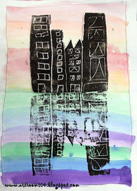 Art Room 104: 2nd Grade Printmaking Unit: Symmetrical City Scapes | Printmaking | Scoop.it