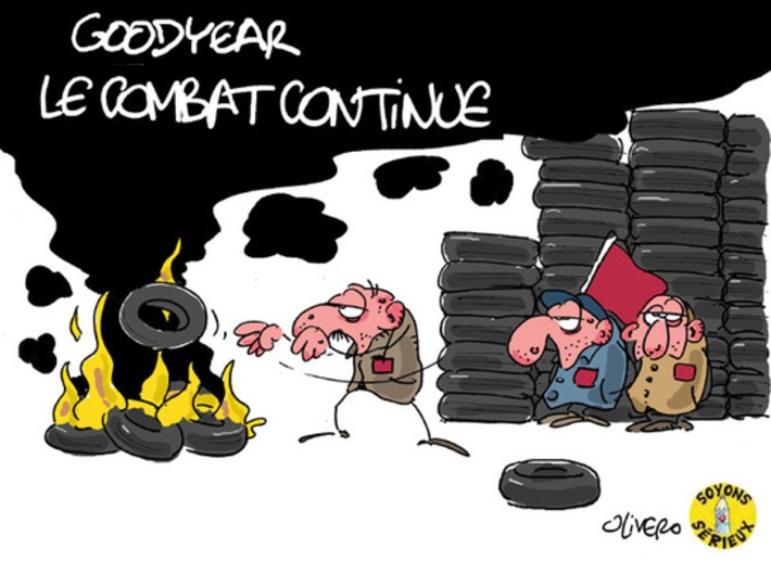 Goodyear : le combat continue   Baie d'humour   Scoop.it