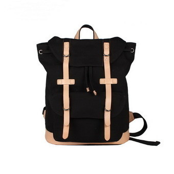 Black Survey evolution backpack | canvas and leather laptop pack for men from Vintage rugged canvas bags | Collection of backpack | Scoop.it