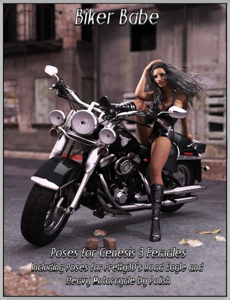 Biker Babe Poses for Genesis 3 Female | 3D Models and 3D Software by Daz 3D | Piques My Interest | Scoop.it