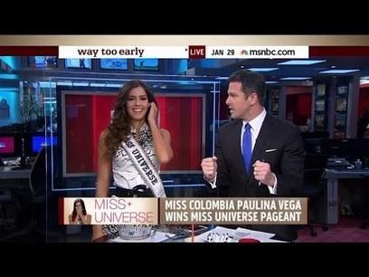 Thomas talks with the new Miss Universe / Paulina Vega, Florida - YouTube | Wandering Salsero | Scoop.it