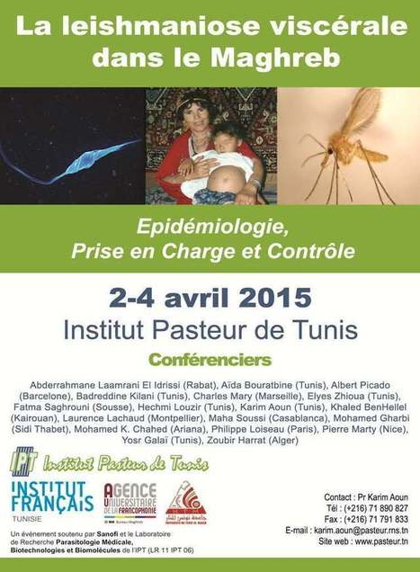 La leishmaniose viscérale dans le Maghreb, 2-4 avril 2015 | Institut Pasteur de Tunis-معهد باستور تونس | Scoop.it