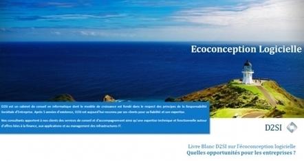D2SI publie un livre blanc sur l'éco-conception logicielle - GreenIT.fr | LdS Innovation | Scoop.it