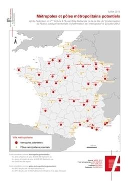 La nouvelle carte des métropoles après la 1ère lecture de l'Assemblée nationale | Intelligence territoriale et développement durable | Scoop.it