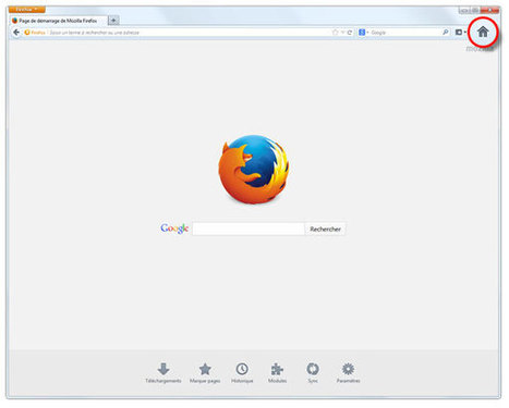 Firefox : changer sa page d'accueil | Time to Learn | Scoop.it