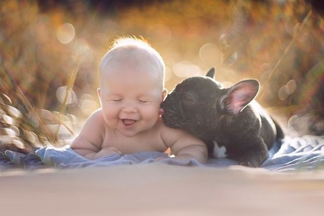 Kid and puppy born in one day and now think they are brothers | picturescollections | Scoop.it