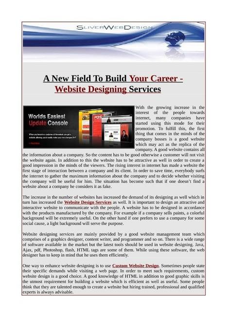 Online business of Website design services   Web Design.net   Scoop.it