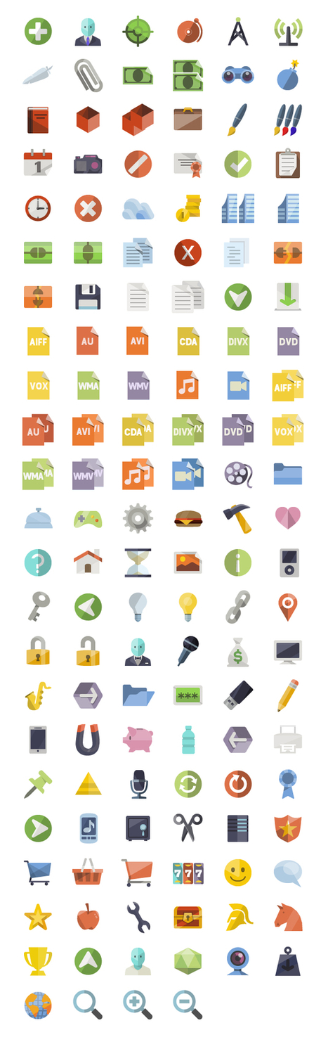 100+ Free IOS7 Vector Flat Icon Sets for iOS Developers | freevectors.me | Scoop.it