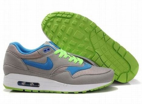 UK Cheap Mens Nike Air Max Trainers Shoes 1 Blue Grassgreen Grey   uk-nike-air-max-cheap   Scoop.it