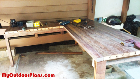 DIY L-shaped Workbench | MyOutdoorPlans | Free Woodworking Plans and Projects, DIY Shed, Wooden Playhouse, Pergola, Bbq | Garden Plans | Scoop.it