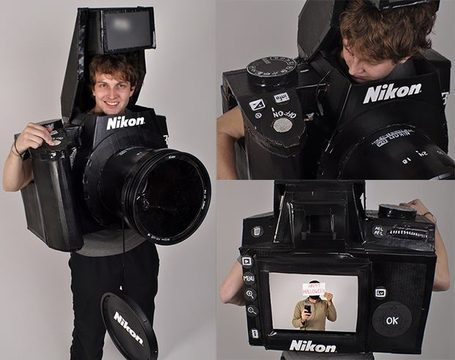 "Fully Functional Nikon DSLR Costume | ""Cameras, Camcorders, Pictures, HDR, Gadgets, Films, Movies, Landscapes"" 