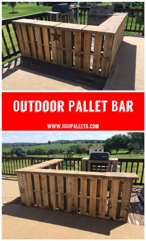 Outdoor Pallet Bar | Piques My Interest | Scoop.it