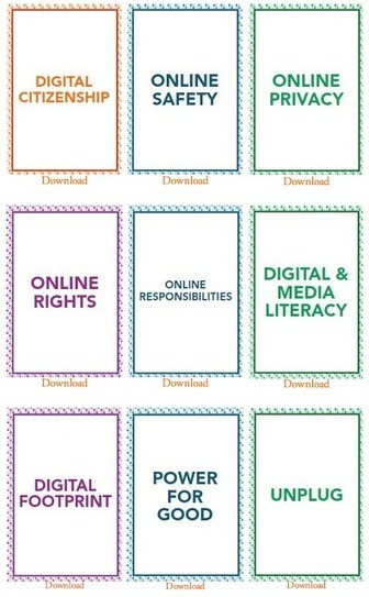 Excellent Free Downloadable Digital Citizenship Cards for your Class | Digital Litearcy & Citizenship - Students | Scoop.it