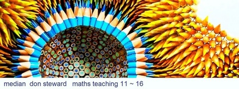MEDIAN Don Steward secondary maths teaching: pencil art by Jennifer Maestre | Mathematics | Scoop.it