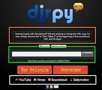 En la nube TIC: Dirpy descarga vídeo y audio | Edu-Recursos 2.0 | Scoop.it
