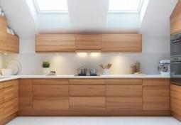 Modern Minimalist Kitchen Design Loft with Wooden Cabinet - Easy Decor | Home living Spaces - Kitchen - Bathroom - Living | Scoop.it