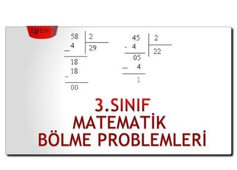 3.SINIF MATEMATİK BÖLME PROBLEMLERİ | 3.Sınıf | Eğitimciler | Scoop.it