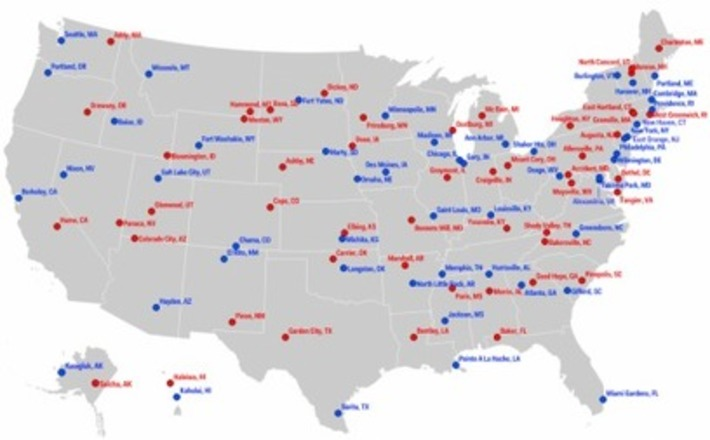 Map: The most liberal and conservative towns in each state - Washington Post (blog) | Nerdy Needs | Scoop.it