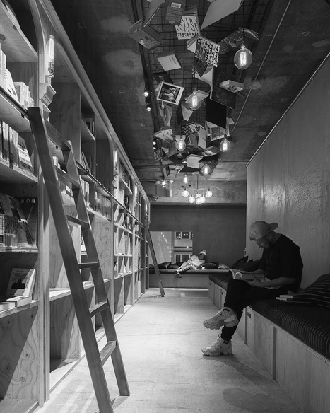 Bookstore-Themed Tokyo Hotel Has 1,700 Books And Sleeping Shelves Next To Them | Criminology and Economic Theory | Scoop.it