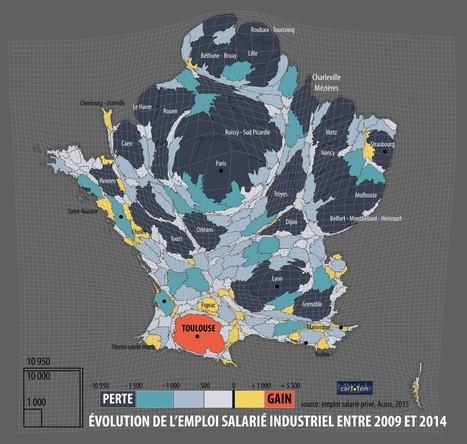[CHOMAGE] L'emploi et le territoire: l'émergence des «MONSTROPOLES» – carToTem – fabien lambertin cartography | URBANmedias | Scoop.it