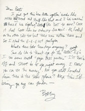 Bob Dylan to Patty Mucha (1971) | Pens, Paper, Ink and Letters | Scoop.it