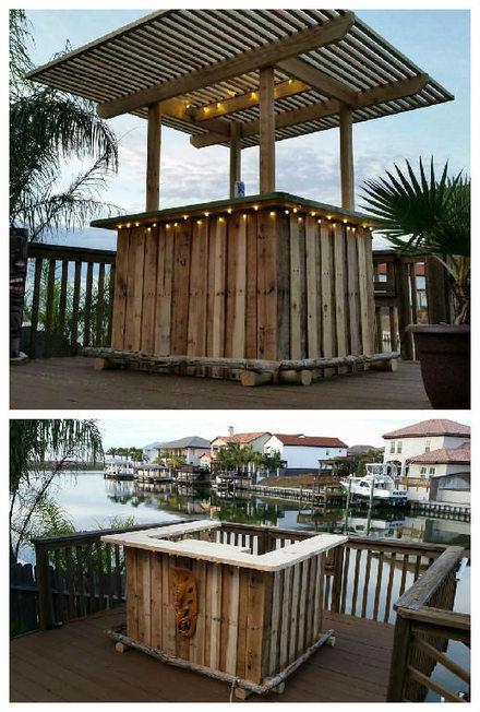 Tiki Backyard Ideas : Pallet Backyard Tiki Bar  1001 Pallets ideas !  Scoopit