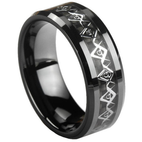 GESTALT® Black Ceramic Unique Masonic Ring - 8mm width. Comfort Fit. – Gestalt Couture   Jewelry Trends   Scoop.it