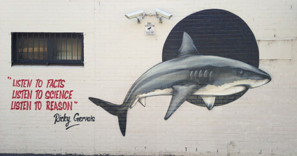 Wall i painted this past weekend in support against the WA shark culling currently under way. | Thomas Jackson | The Shark Narrative | Scoop.it