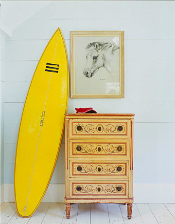 Apartamentos playa decorar con tablas de surf - Tabla surf decoracion ...