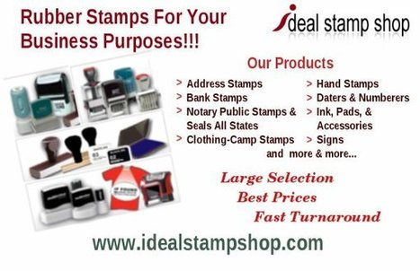 Customized Rubber Stamps For Commercial Use | Stationary Services For All Your Needs | Scoop.it