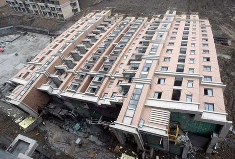 Collapse: toppled apartment building in Shanghai | Michael John Grist | Modern Ruins, Decay and Urban Exploration | Scoop.it
