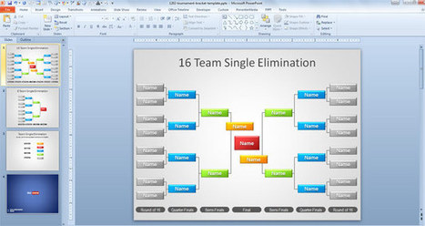 Free Tournament Brackets Template for PowerPoint - Free PowerPoint Templates - SlideHunter.com   powerpoint template   Scoop.it