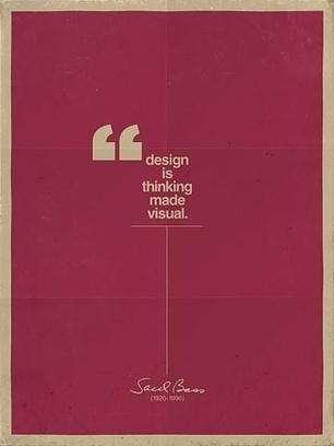 Poster: Design is thinking made visual | Teaching Technology in the Classroom: Sustainability and water conservation | Scoop.it