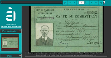 Ardèche : les cartes du combattant sont en ligne ! - GénéInfos | Nos Racines | Scoop.it