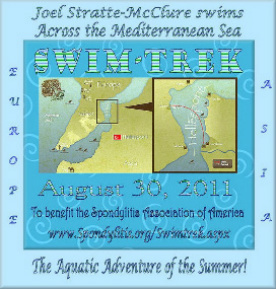 Swimming across the Mediterranean Sea in support of The Spondylitis Assoc. of America | Autoimmune Arthritis | Scoop.it