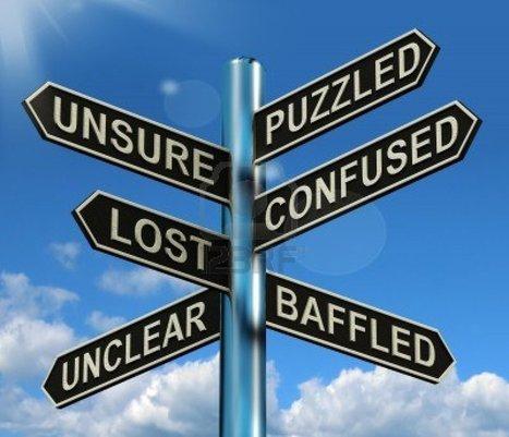 13564622-puzzled-confused-lost-signpost-shows-puzzling-problem.jpg (1200x1029 pixels) | Entrepreneur | Scoop.it