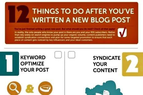 Doce cosas a hacer después de publicar un post en tu blog (infografía) | NTICs en Educación | Scoop.it